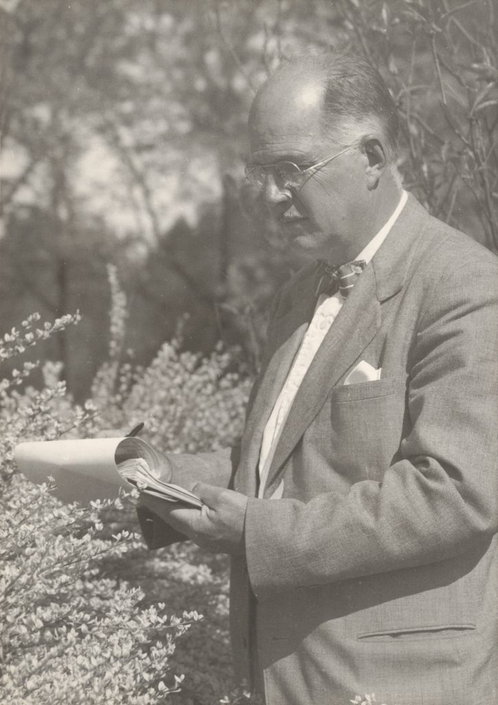 Donald Wyman, horticulturist at Arnold Arboretum, 1952.